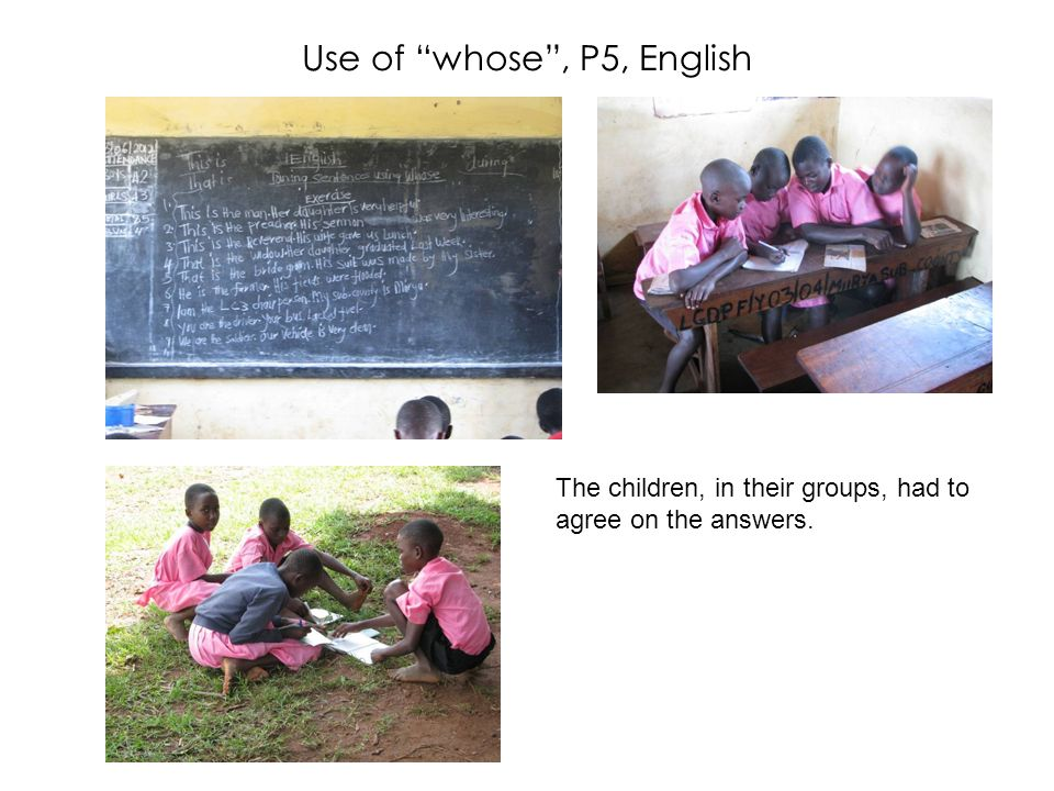 Use of whose , P5, English
