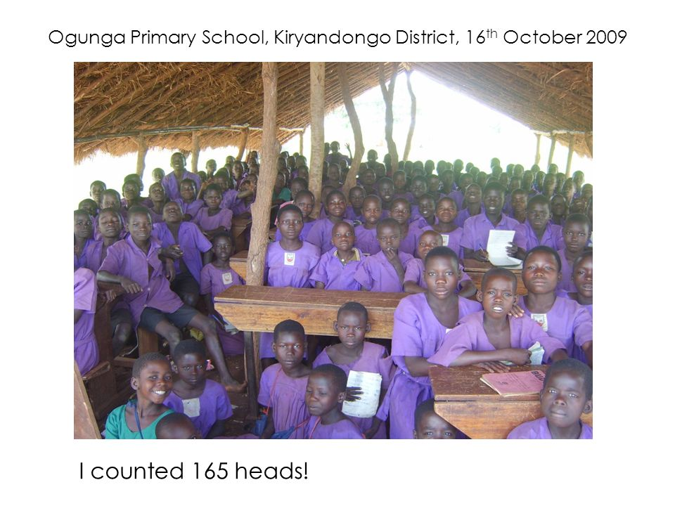 Ogunga Primary School, Kiryandongo District, 16th October 2009