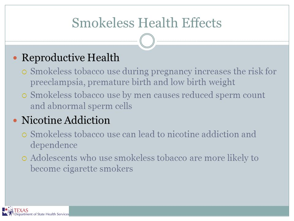 Smokeless Health Effects