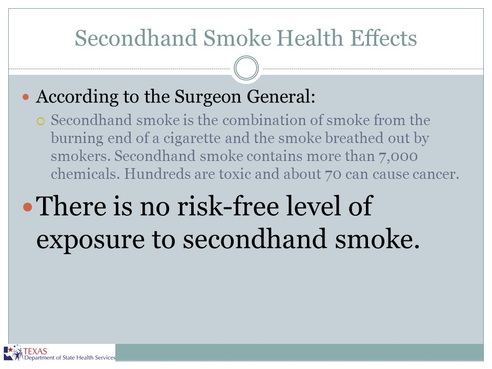 Secondhand Smoke Health Effects