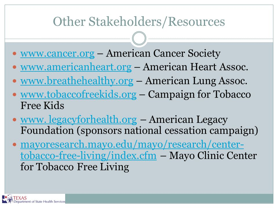 Other Stakeholders/Resources