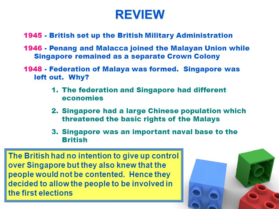 REVIEW British set up the British Military Administration.
