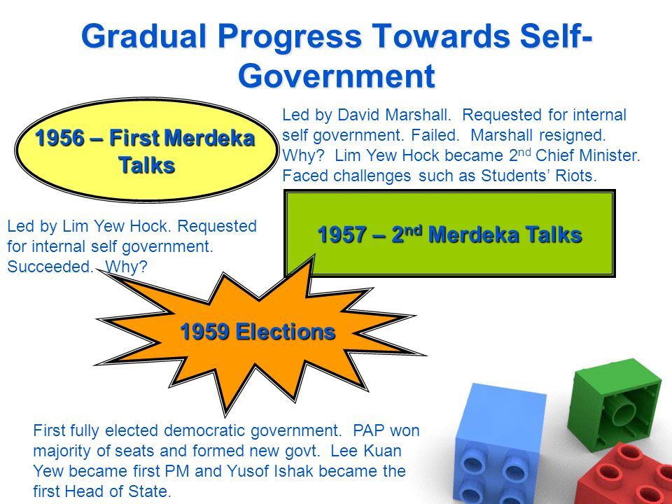 Gradual Progress Towards Self-Government
