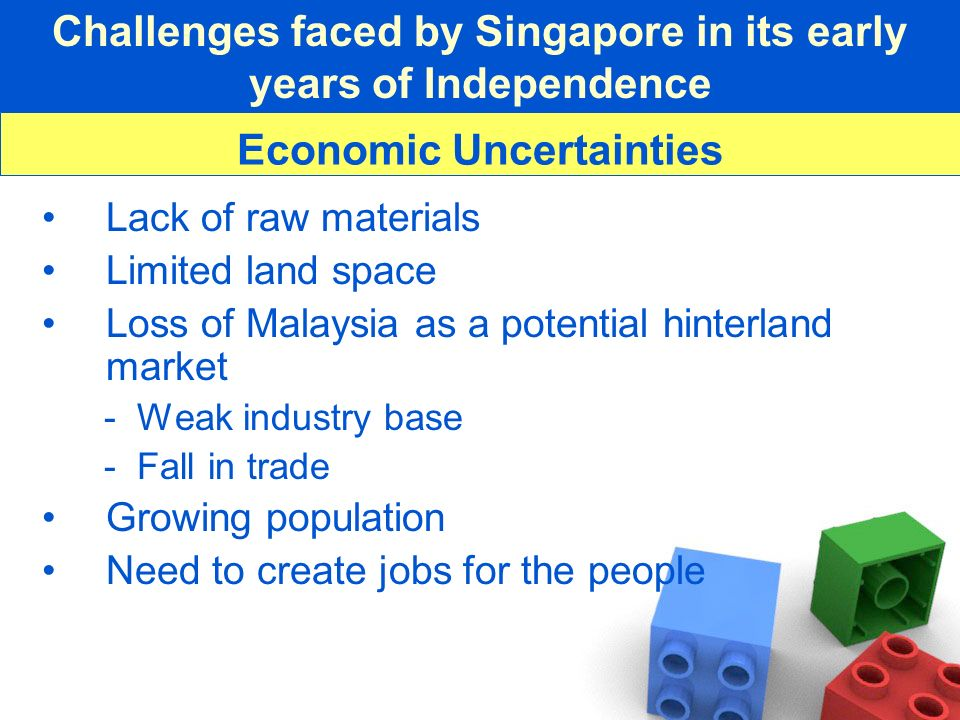 Challenges faced by Singapore in its early years of Independence