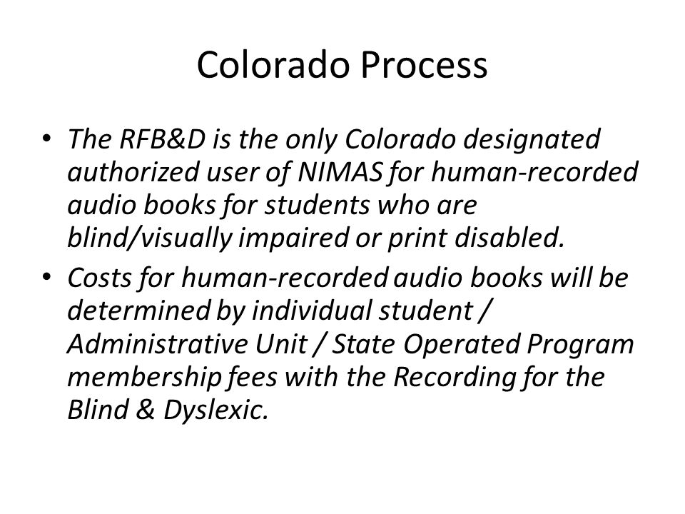 Colorado Process