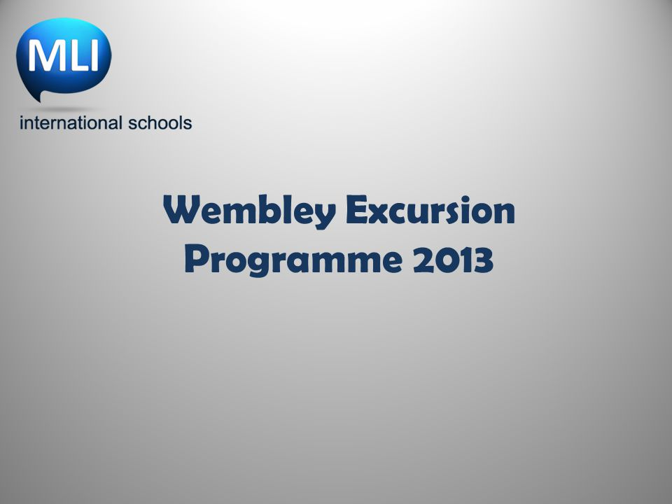 Wembley Excursion Programme 2013