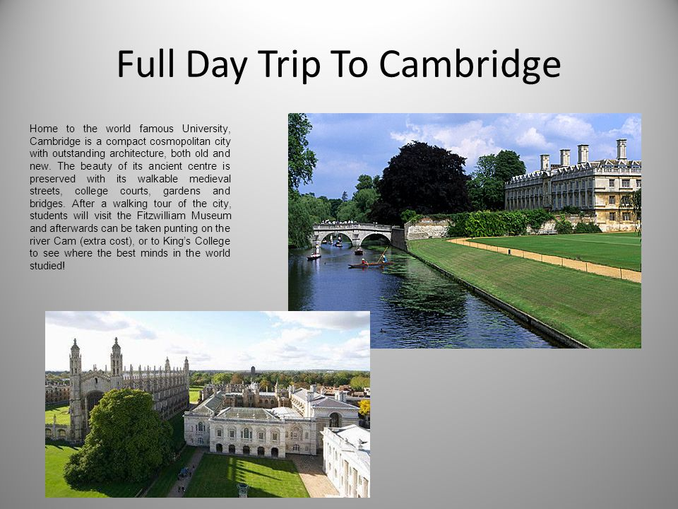 Full Day Trip To Cambridge