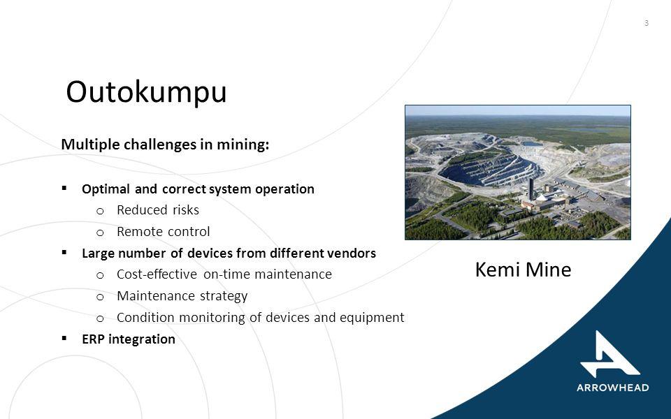 Outokumpu Kemi Mine Multiple challenges in mining: