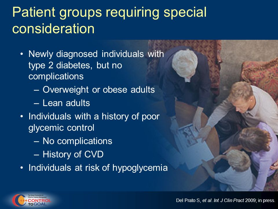 Patient groups requiring special consideration