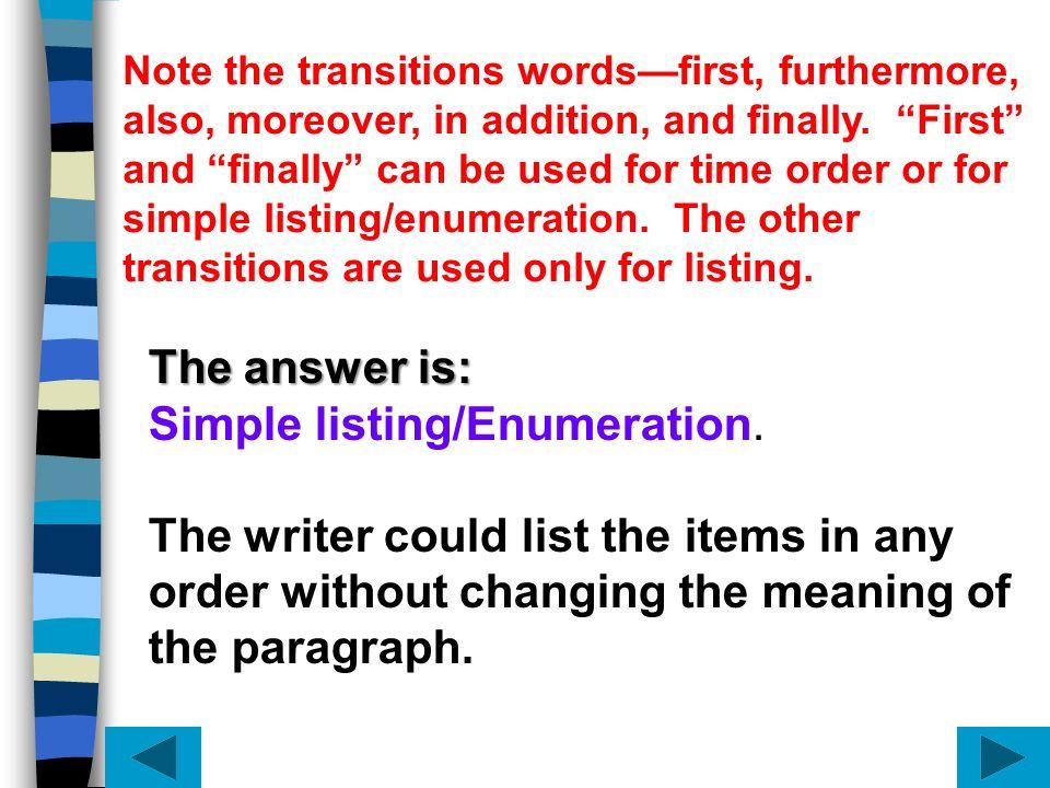 Simple listing/Enumeration.