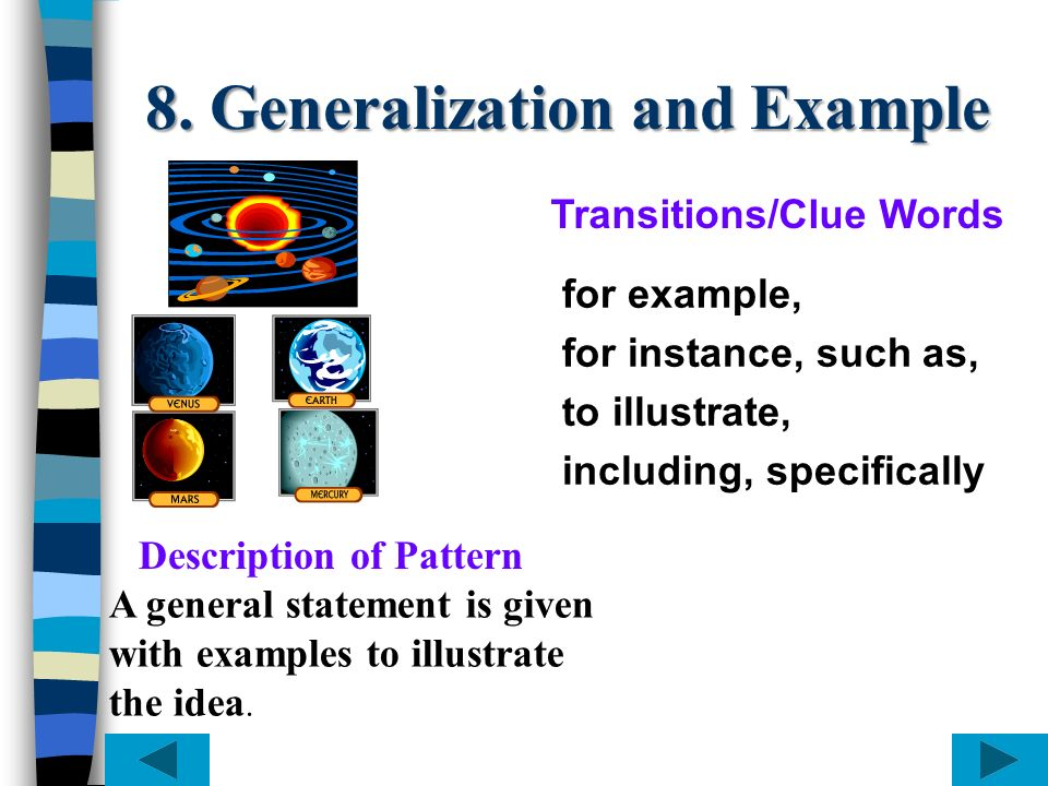 8. Generalization and Example
