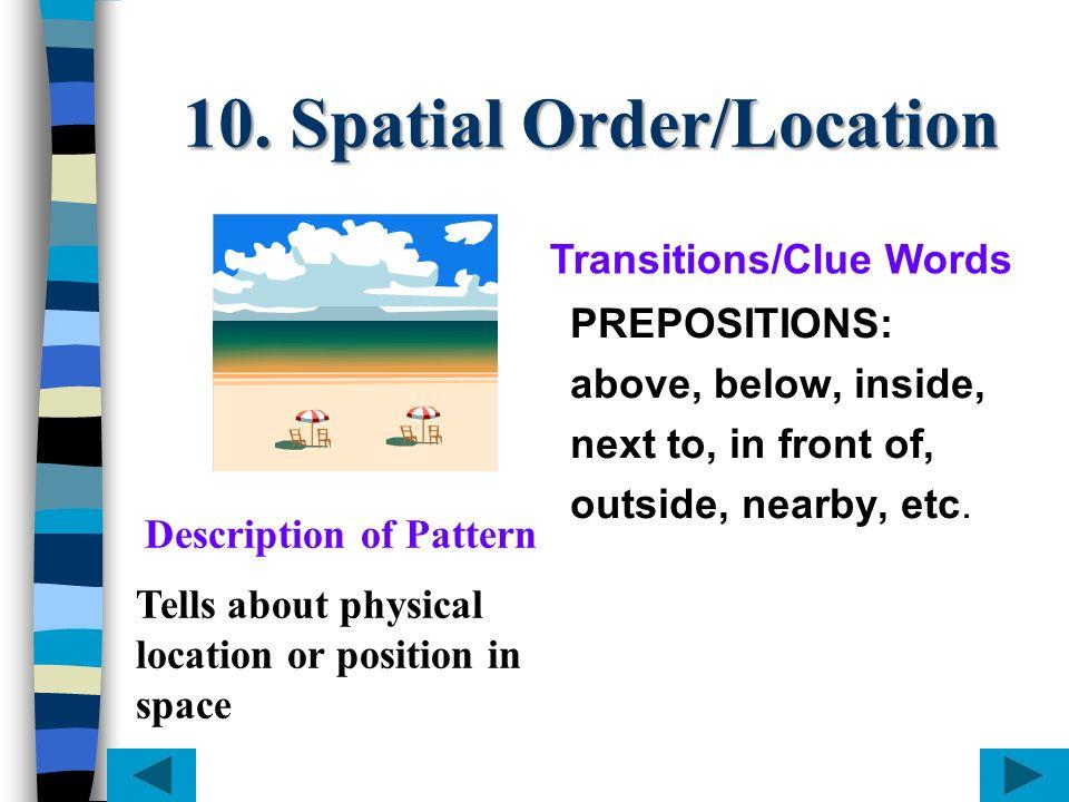 10. Spatial Order/Location