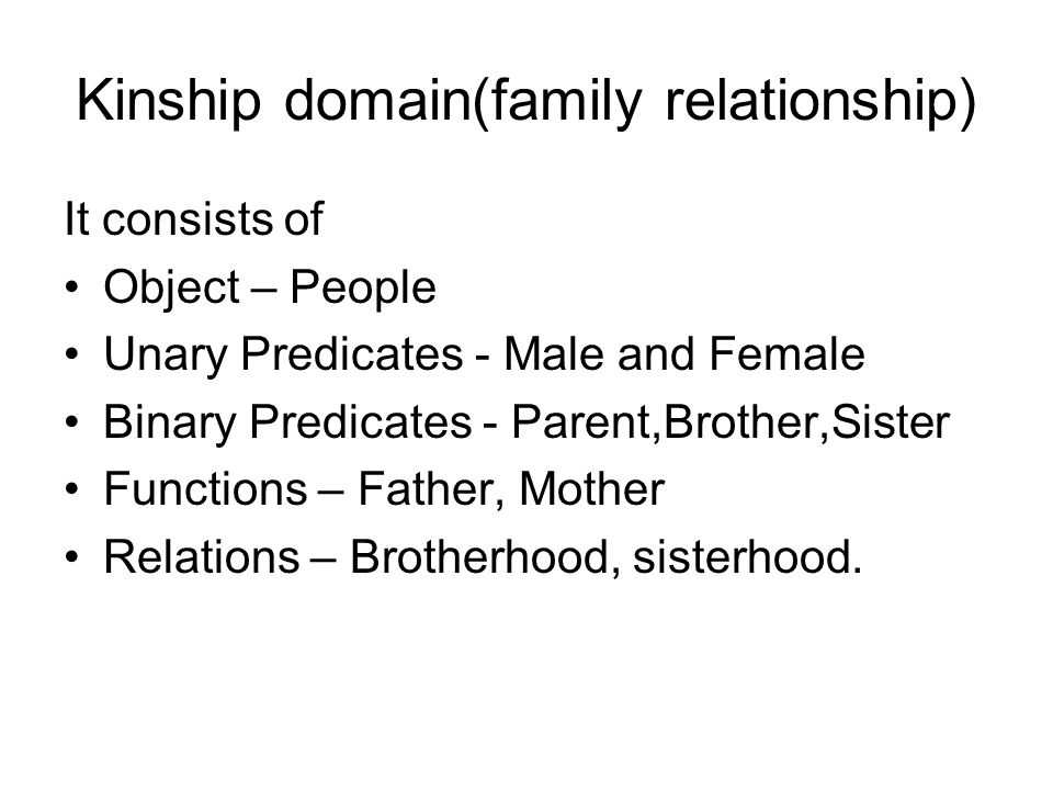 Kinship domain(family relationship)