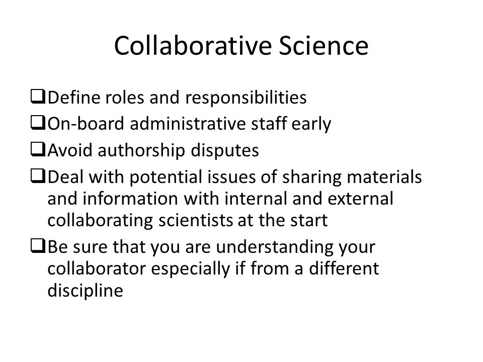 Collaborative Science