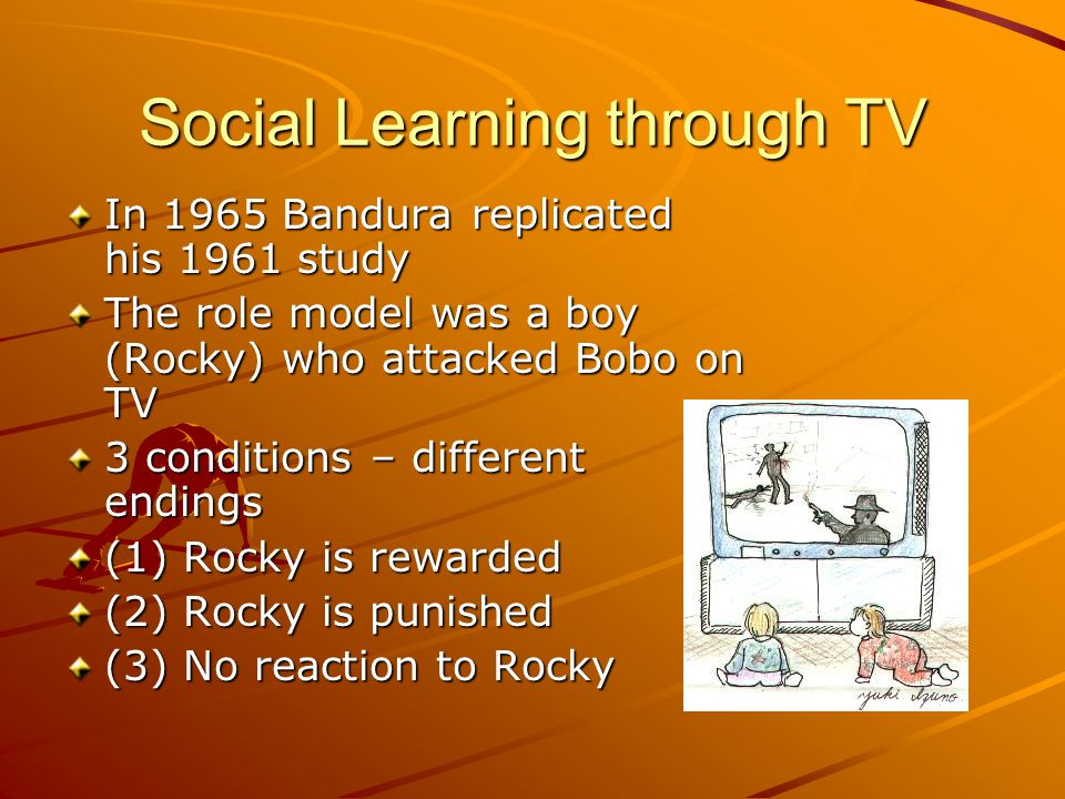 Social Learning through TV
