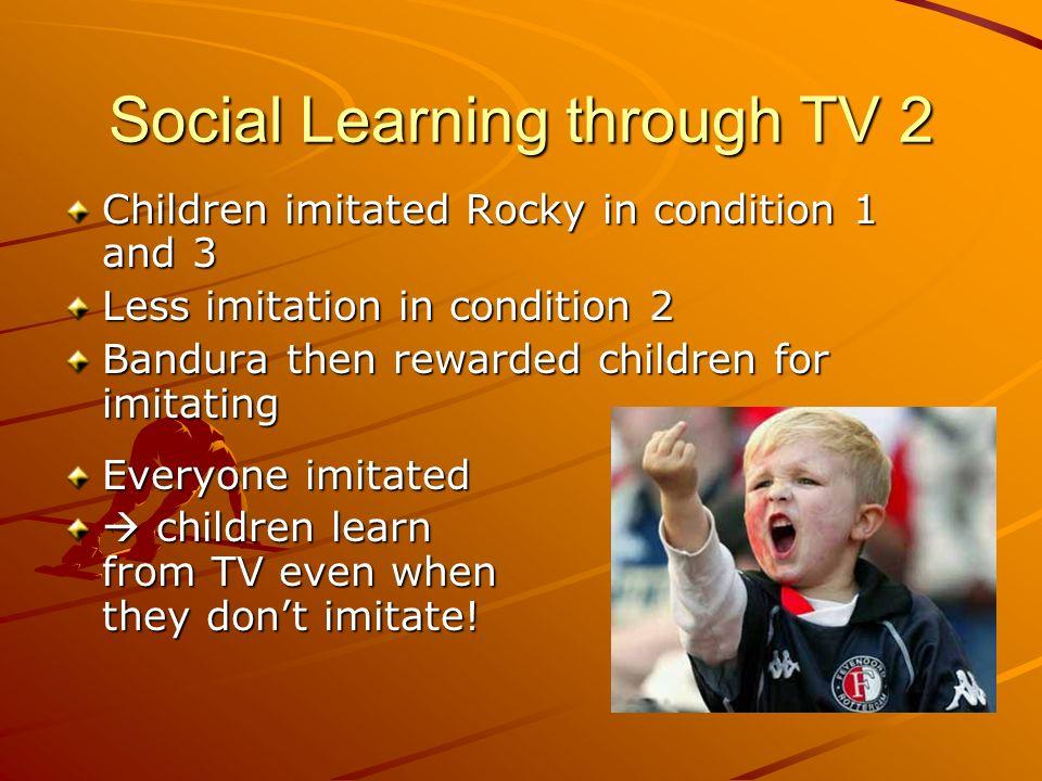 Social Learning through TV 2