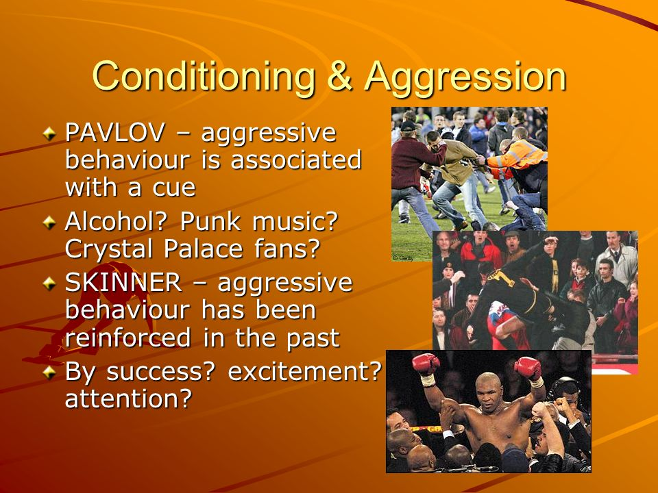 Conditioning & Aggression
