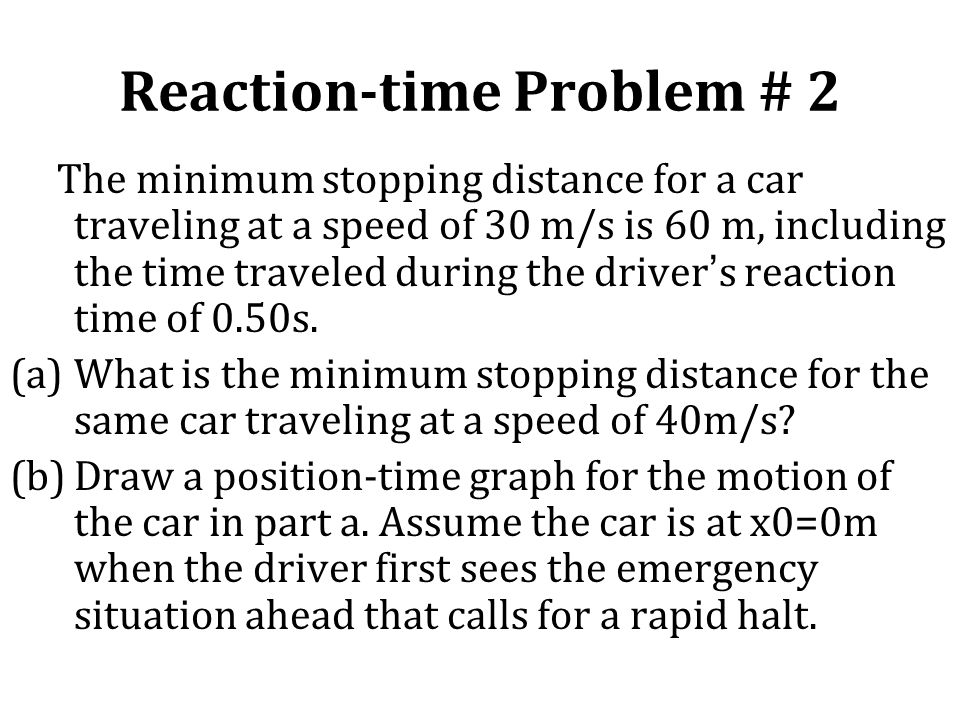 Reaction-time Problem # 2
