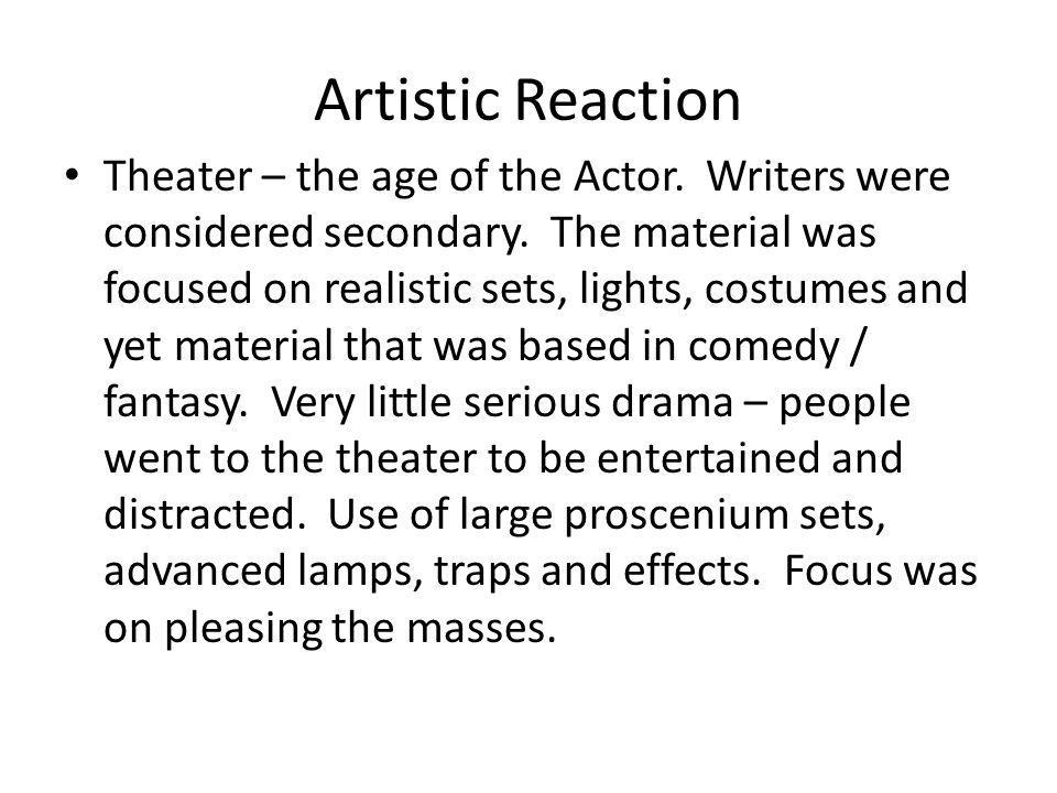 Artistic Reaction