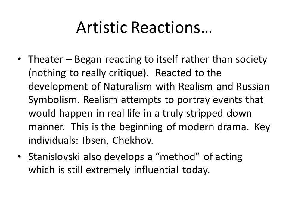 Artistic Reactions…