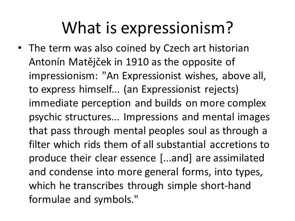 What is expressionism