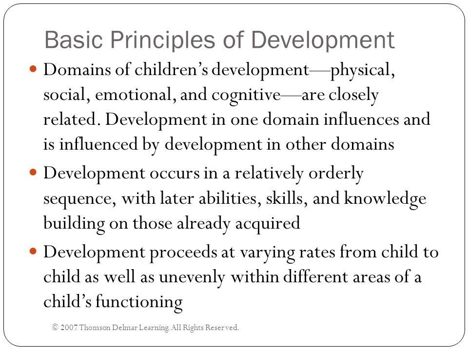 Basic Principles of Development
