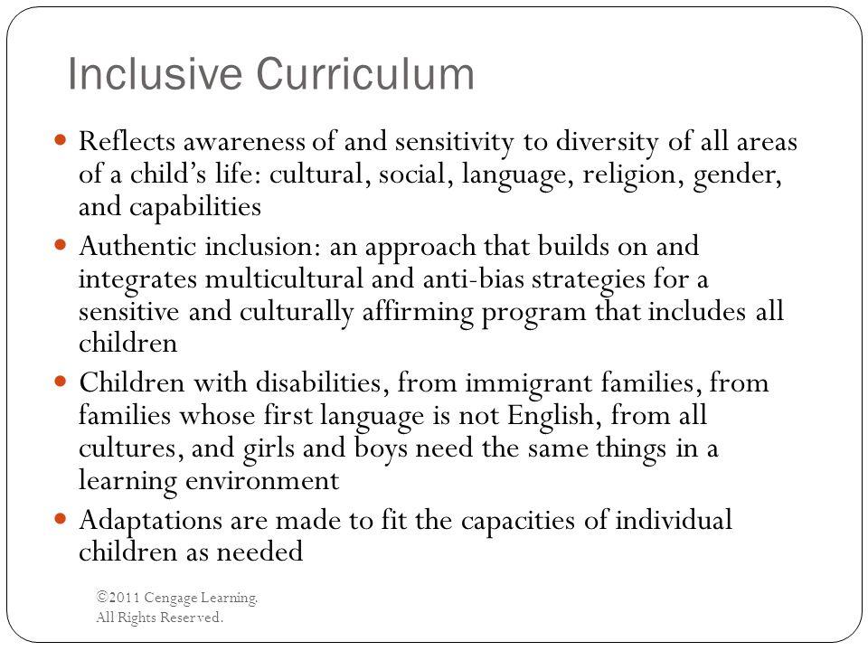 Inclusive Curriculum