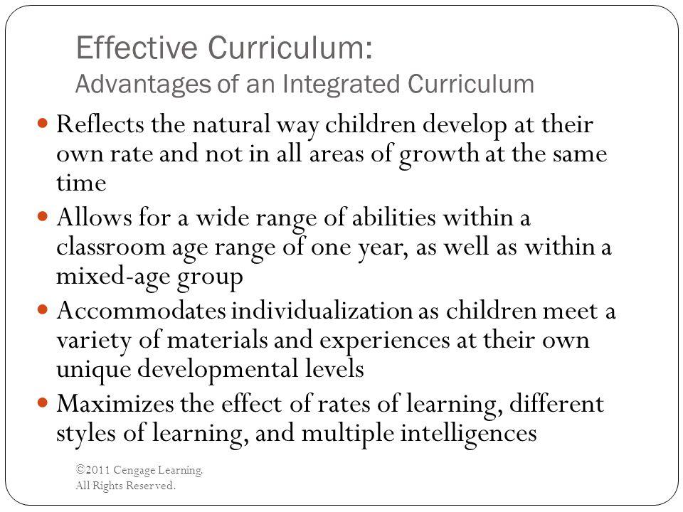 Effective Curriculum: Advantages of an Integrated Curriculum