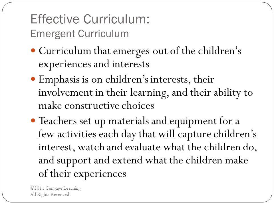 Effective Curriculum: Emergent Curriculum