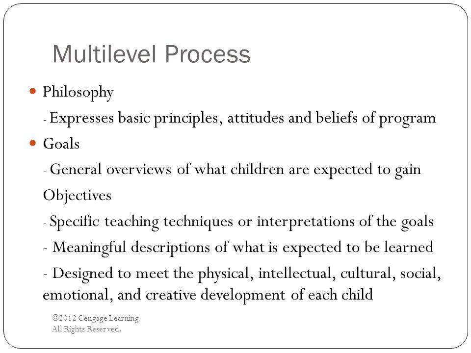 Multilevel Process Philosophy Goals