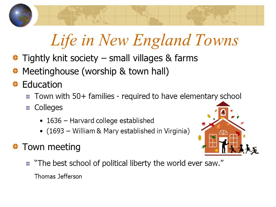 Life in New England Towns