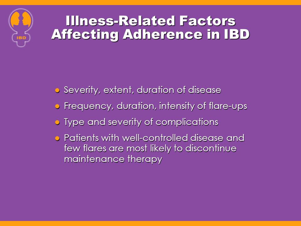 Illness-Related Factors Affecting Adherence in IBD