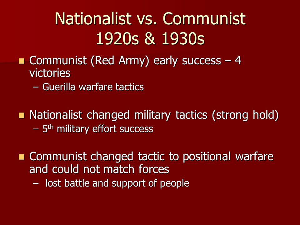 Nationalist vs. Communist 1920s & 1930s