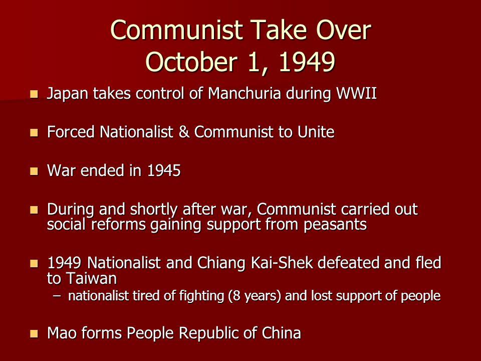 Communist Take Over October 1, 1949