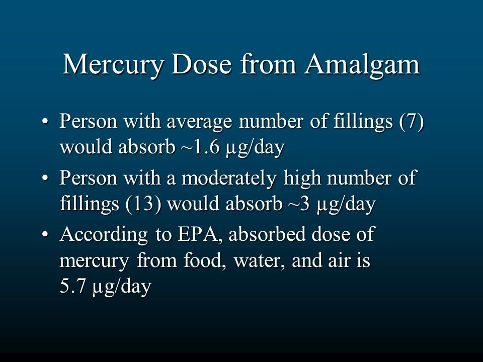 Mercury Dose from Amalgam