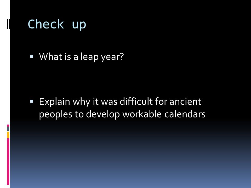 Check up What is a leap year