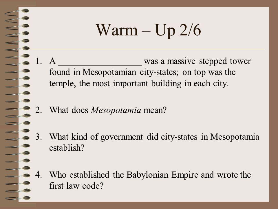 Warm – Up 2/6