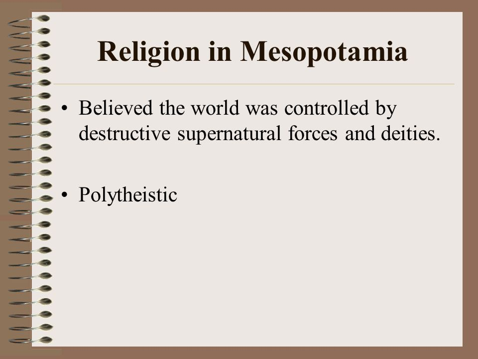 Religion in Mesopotamia