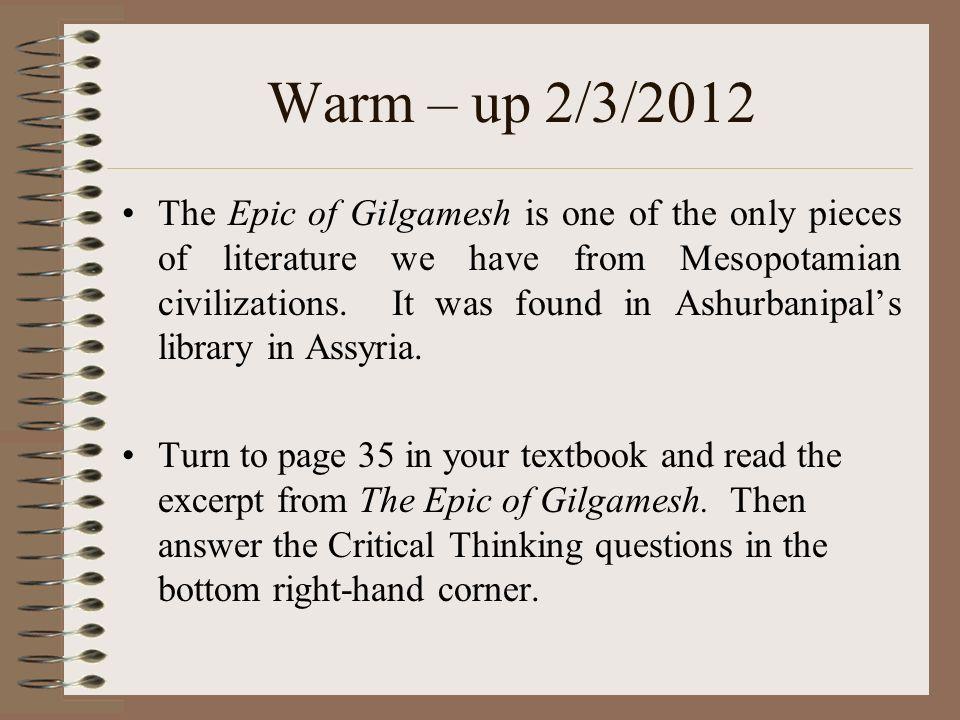 Warm – up 2/3/2012