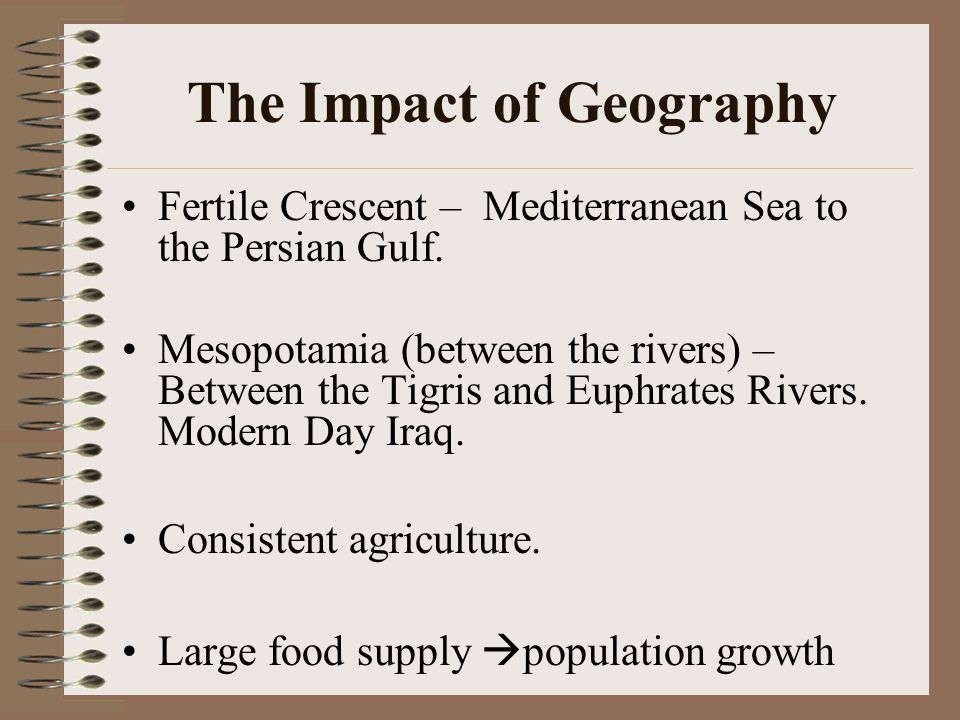 The Impact of Geography