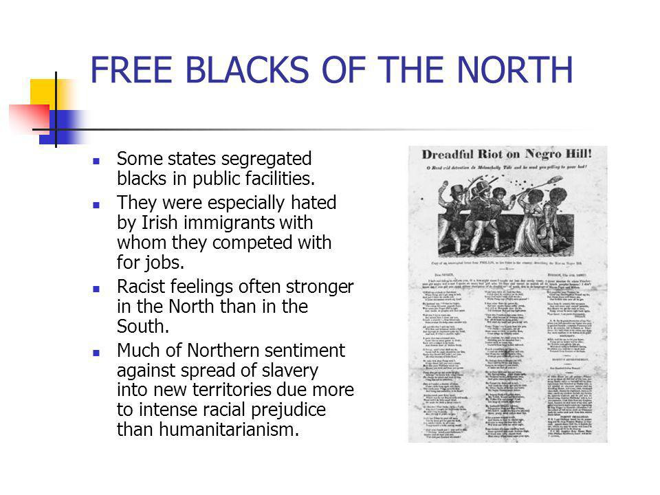 FREE BLACKS OF THE NORTH