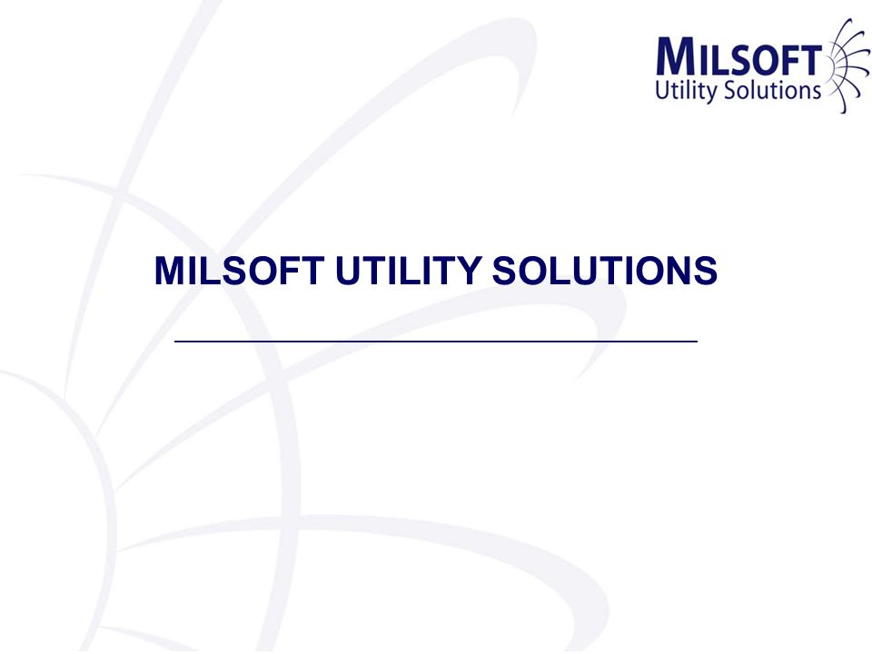 MILSOFT UTILITY SOLUTIONS