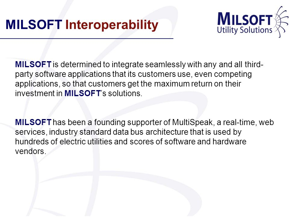 MILSOFT Interoperability