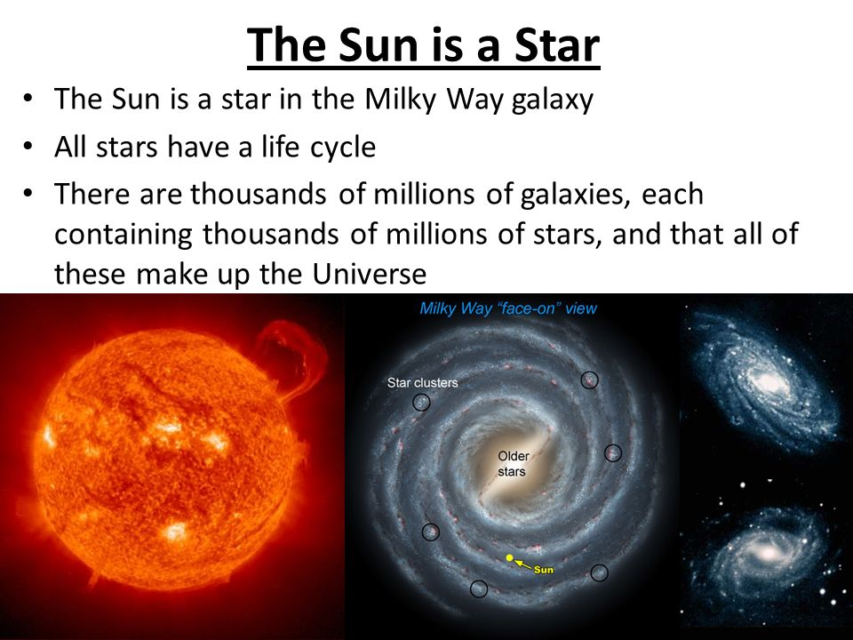 The Sun is a Star The Sun is a star in the Milky Way galaxy