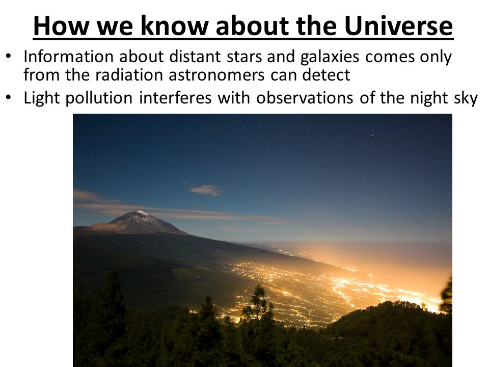 How we know about the Universe