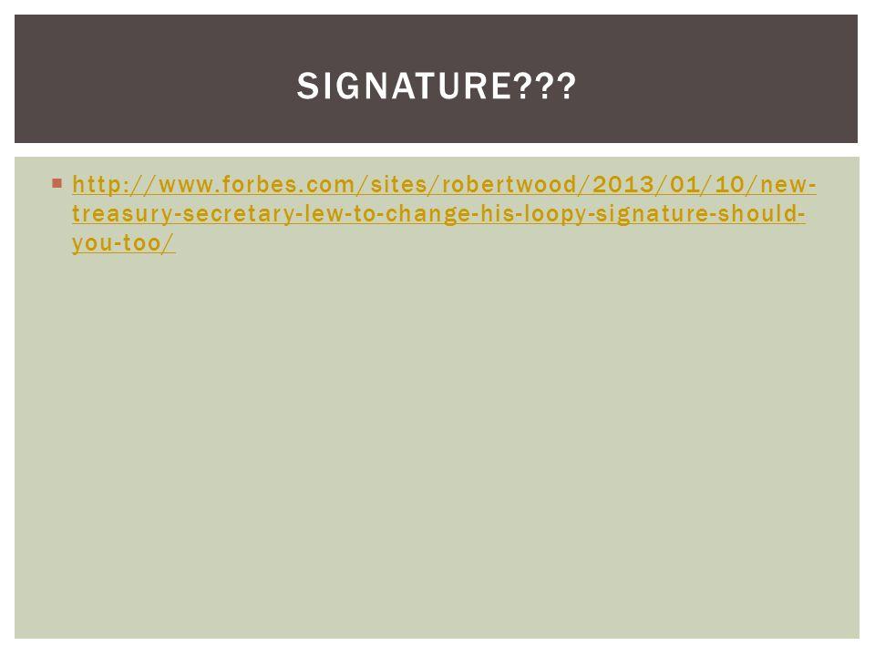 Signature .