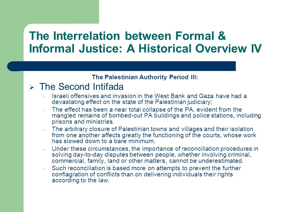 The Palestinian Authority Period III: