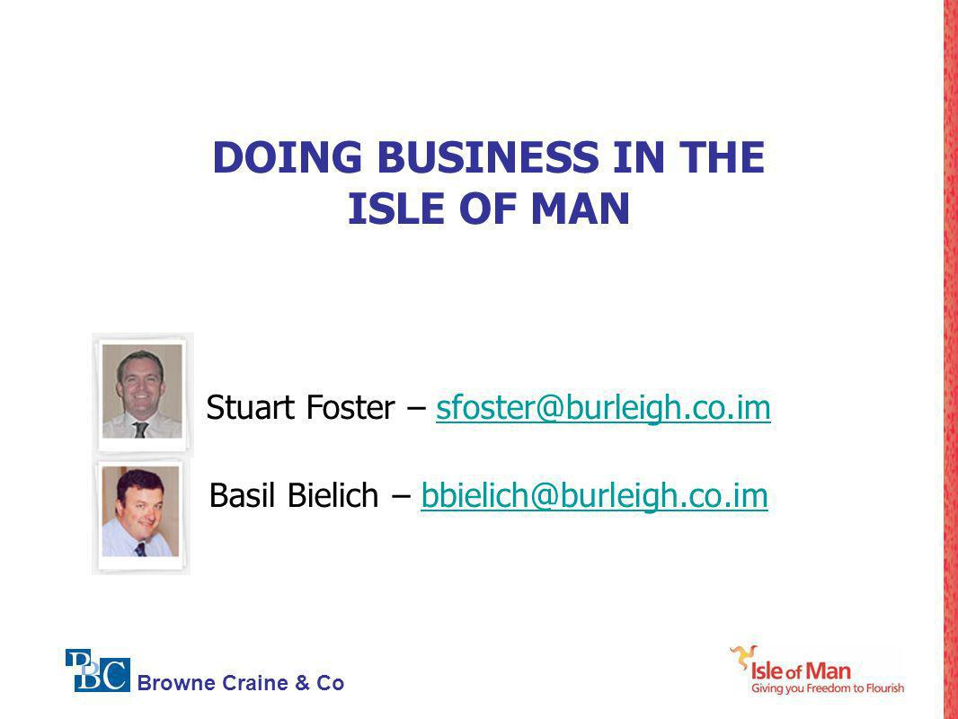 DOING BUSINESS IN THE ISLE OF MAN