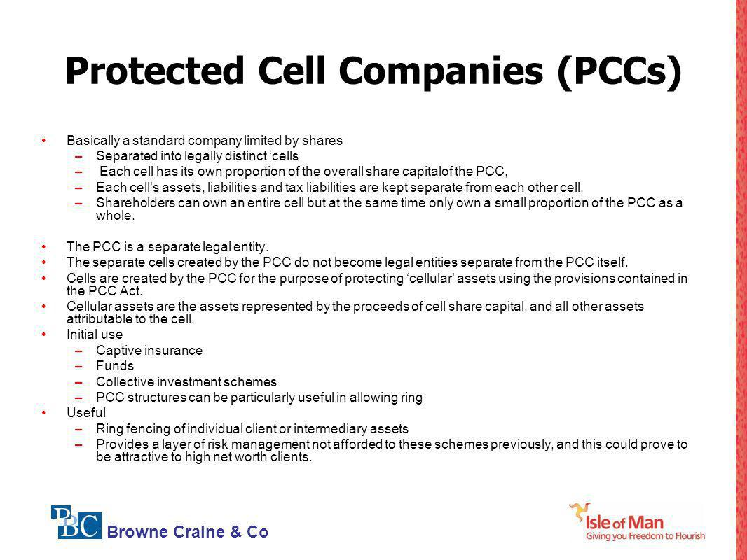 Protected Cell Companies (PCCs)