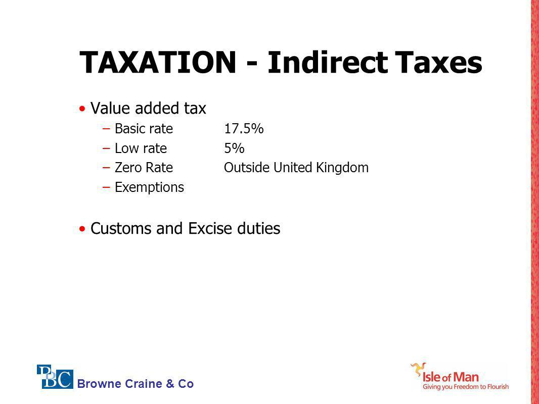 TAXATION - Indirect Taxes